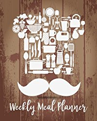 Weekly Meal Planner: Food Planner & Grocery list Menu Food Planners Prep Book Eat Records Journal Diary Notebook Log Book Size 8×10 Inches 104 Pages Kitchen Icon Set Style (Volume 5)