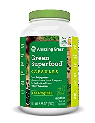 Amazing Grass Green Superfood Organic Capsules with Wheat Grass and Greens, Original, 150 Capsules