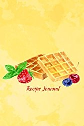 Recipe Journal: Viennese Wafers with Berries and Mint Cooking Journal, Lined and Numbered Blank Cookbook 6 x 9, 150 Pages (Recipe Journals) (Cooking Journals)