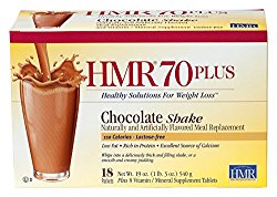 HMR 70 Plus Chocolate Shake and Pudding Mix, 18 Single-Serve Packets, (Packaging Design May Vary)
