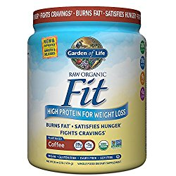 Garden of Life Organic Meal Replacement – Raw Organic Fit Vegan Nutritional Shake for Weight Loss, Coffee, 16oz (1lb / 454g) Powder