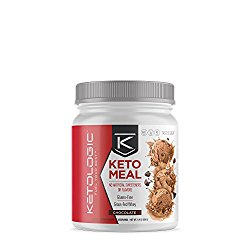 KetoLogic Keto Meal Replacement MCT Shake – Promotes Weight Loss / Suppresses Appetite / Low Carb – Chocolate, 20 Servings