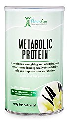 """RelaxSlim Meal Replacement Whey Protein Shakes, Formulated by Award Winning Metabolism and Weight Loss Specialist- Natural Aid for a """"Slow Metabolism"""" with Ingredients to Naturally Suppress Appetite and Start of Your Day Burning Fat- Great Taste and Very Filling (Vanilla)"""