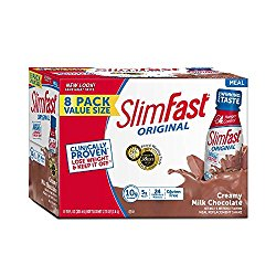 SlimFast Original – Weight Loss Meal Replacement RTD Shakes – With 10g Of Protein & 5g Of Fiber – Plus 24 Vitamins and Minerals per serving – Creamy Milk Chocolate, 8 Count