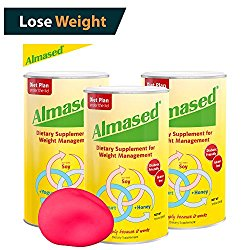 The #1 ALMASED® Diet Protein Powder 3-pack + FREE Stress Ball. Weight Loss Protein Support (17.6 ounce each) Almased® Diet Protein – Protein Support – Optimal Maximum Health and Energy (3)