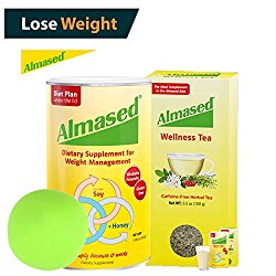 The #1 ALMASED® Weight Loss BUNDLE – Almased® Diet Protein Powder + Almased® Wellness Tea – Protein Support – Optimal Maximum Health and Energy + Free Stress Ball