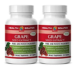 Blood pressure vitamins – GRAPE SEED EXTRACT – Grape seed extract bulk – 2 Bottles 60 Capsules