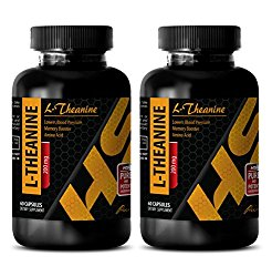 Brain booster pills – L-Theanine 200MG – Theanine extended release – 2 Bottle (120 Capsules)