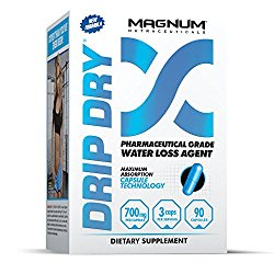 Magnum Nutraceuticals Drip-Dry – 90 Capsules – Reduce Water Weight – Defines Lean Muscle – Strong Natural Diuretic – Define Lean Muscle – Eliminates Muscle Cramps
