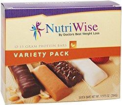 NutriWise – Variety Pack Diet Protein Bars (7 bars)