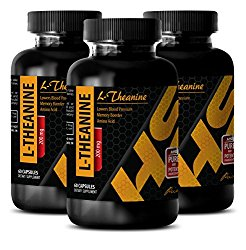 Weight management products – L-Theanine 200MG – Theanine supplement – 3 Bottle (180 Capsules)