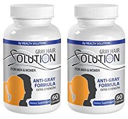 anti-aging moisture complex – GRAY HAIR SOLUTION – FOR MEN & WOMEN – EXTRA STRENGTH FORMULA – nettle capsules – 2 Bottles (120 Capsules)