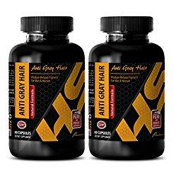antiaging – ANTI GRAY HAIR – NATURAL FORMULA – nettle herb bulk – 2 Bottles (120 Capsules)