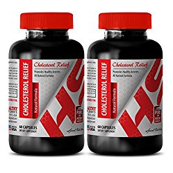 antioxidant compound – CHOLESTEROL RELIEF – ALL NATURAL FORMULA – cholesterol essential oil – 2 Bottles (120 Capsules)