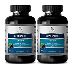 antioxidant for women – RESVERATROL 1200 Mg – NATURAL ANTIOXIDANT COMPLEX – resveratrol capsules 1000 mg – 2 Bottles 120 Capsules