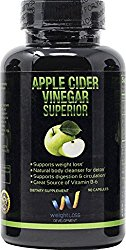 APPLE CIDER VINEGAR Pills Capsules – Natural Cleanse Digestive Detox Weight Loss Supplement – Burn Fat and Clean Your System at the Same Time – Remove Excess Water and Detoxify – 90 tablets