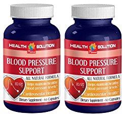 blood pressure longevity – BLOOD PRESSURE SUPPORT 690MG – ALL NATURAL FORMULA – garlic vitamins – 2 Bottles (120 Capsules)