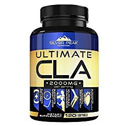 CLA, CLA Safflower Oil for Weight Loss, CLA Supplement for Men & Women, ULTIMATE CLA 2000mg Supplement by Silver Peak Nutrition, Conjugated Linoleic Acid CLA, 120 CLA Pills, Non GMO~ Made in USA