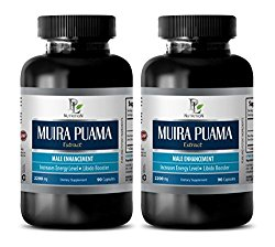 enhancement pills – MUIRA PUAMA EXTRACT – MALE ENHANCEMENT – INCREASES ENERGY LEVELS – LIBIDO BOOSTER – brain memory supplements – 2 Bottles (180 Capsules)