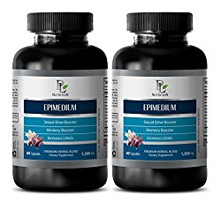 enhancement women – EPIMEDIUM 1560MG – horny goat weed extract with maca – 2 Bottles (120 Capsules)