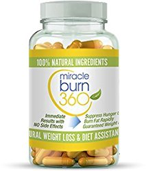 Fast Acting Weight Loss Pills. Natural Appetite Suppressant & Fat Burner Supplement to get Slim Fast – Lose Weight or 100% Money Back Guaranteed (1 Bottle – 30 Diet Pills) – Miracle Burn 360