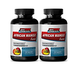 fat burner and metabolism booster – AFRICAN MANGO 1200 mg – ALL NATURAL WEIGHT LOSS DIETARY SUPPLEMENT – african mango extract pure – 2 Bottles (120 Capsules)