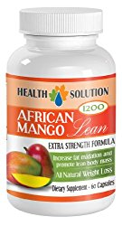 Fat burner for men weight loss – AFRICAN MANGO EXTRACT (1200Mg) – African mango plus diet pills – 1 Bottle 60 Capsules