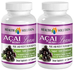 immune support for adults – ACAI BERRY LEAN – PURE AND POTENT INGREDIENTS – acai fiber – 2 Bottles (120 Capsules)