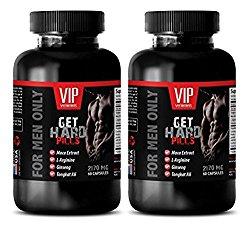 libido booster for men sex – GET HARD PILLS 2170Mg – FOR MEN ONLY – maca dietary supplement – 2 Bottles (120 Capsules)