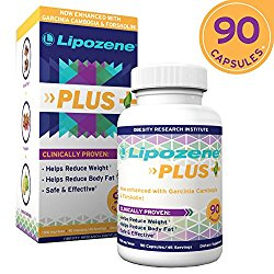 Lipozene Plus Garcinia Cambogia Extract, Forskolin, And Glucomannan – 50% HCA Pure Extract [Appetite Suppressant Weight Loss Diet Pills] No Caffeine No Jitters – 90 Capsules