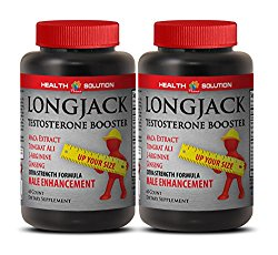 Male enhancing pills natural – LONGJACK SIZE UP (ALL NATURAL FORMULA) – Tongkat ali supplement – 2 Bottles 120 Capsules