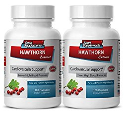 metabolism booster for men – HAWTHORN BERRY EXTRACT 665MG – hawthorn extract powder – 2 Bottles (240 Capsules)