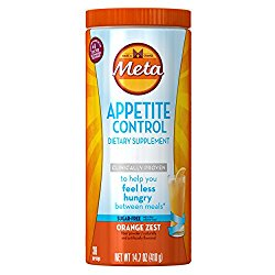 Metamucil Appetite Control Dietary Supplement, Sugar-Free Orange Zest, 36 Doses