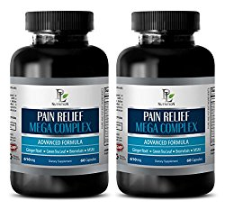 pain away – PAIN RELIEF MEGA COMPLEX 610MG – green tea appetite suppressant – 2 Bottles (120 Capsules)