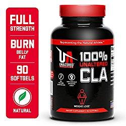 UNALTERED CLA Safflower Oil Pills, Natural Belly Fat Burner, 3000mg, 30 Servings