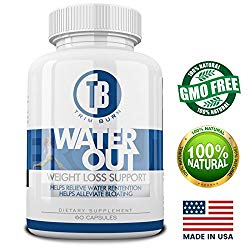 Water Weight Loss Supplement By Trim Burn| Anti Bloating Herbal Formula For Healthy Fluid Balance &Water Retention Relief | Natural Dietary Pills w/Potassium, Dandelion & Green Tea For Men & Women