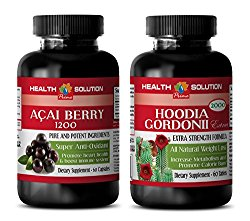 weight loss for women – ACAI BERRY – HOODIA GORDONII – acai powder bulk – weight loss combo kit – (2 Bottles COMBO)