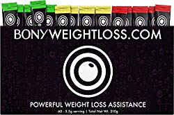 Bony Weightloss: Mixed Flavor 60 Count Sticks with Garcinia Cambogia, Green Coffee Bean, Noni and Yacon – Diet Drink for Men and Women – Carb Blocker Fat Burner and Appetite Suppressant