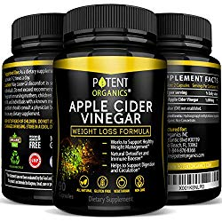 100% Organic Apple Cider Vinegar – 90 Capsules For Healthy Diet & Weight Loss- Pure, Raw, Vegan and Non-GMO – Supports Body Detox – Made in USA – Add to Garcinia Cambogia