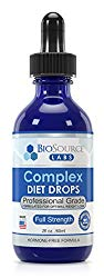 BioSource Labs Complex Diet Drops: Lean Weight Loss Drops for Rapid Weight Loss| Slenderizing Drops to Boost Your Weight Loss Meal Plan| Best Natural Metabolism Booster for Men & Women| 2 oz Bottle