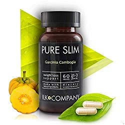 100% Garcinia Cambogia Weight Loss – Fast Acting Diet Pills That Work Fast for Women & Men – Made in USA – 60 Vegetable Capsules