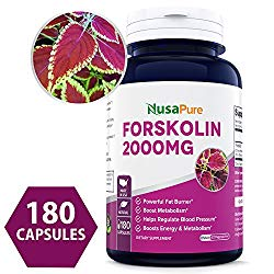 100% Pure Forskolin 2000mg Per Caps – 180 Capsules (Non-GMO & Gluten Free) – Weight Loss Fuel – Belly Buster Fat Burner – The Stronger The Better – 100% Money Back Guarantee – Order Risk Free!