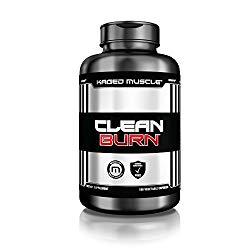 KAGED MUSCLE, Clean Burn Stimulant-Free Weight Loss Supplement for Men & Women, 180 Veggie Diet Pills