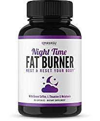 Night Time Weight Loss Pills and Appetite Suppressant – White Kidney Bean Extract, Green Coffee Bean Extract, L-Theanine, L-Tryptophan, Melatonin- Stimulant Free PM Fat Burner & Metabolism Stabilizer