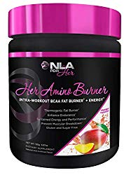 NLA for Her – Her Amino Burner – Intra-Workout BCAA Fat Burner + Energy – Sustained Energy, Focus, and Endurane. Promotes Fat Loss & Boosts Metabolism – Mango Passion – 195 Grams