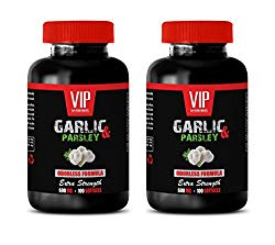 blood pressure and cholesterol – GARLIC & PARSLEY 600MG – EXTRA STRENGTH – garlic pills cholesterol – 2 Bottles 200 Softgels