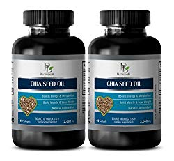 Brain Vitamins Memory – Chia Seed Oil 2000MG – Source of Omega 3-6-9 – Chia Seed Pills – 2 Bottles (120 Softgels)