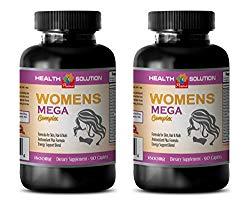energy booster pills for women – WOMEN'S MEGA COMPLEX 1600 MG – grape seed extract for skin – 2 Bottles 180 Caplets