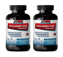 Joint Support with hyaluronic Acid – HYALURONIC Acid BIO-Available – Skin Hydration Support – hyaluronic Acid for Joints Skin & Eyes – 2 Bottles 120 Capsules