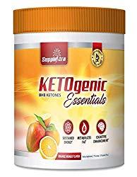 Ketogenic Essentials – BHB Ketones – Zero Sugar, Zero Carbs, Zero Caffeine – Inch and Weight Loss – Orange Mango